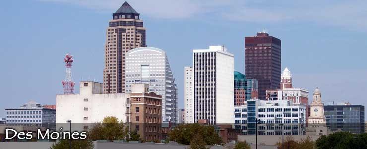 The Des Moines skyline