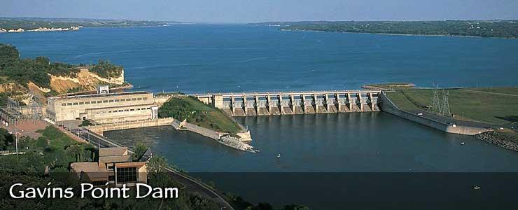 Gavins Point Dam on the Missouri River
