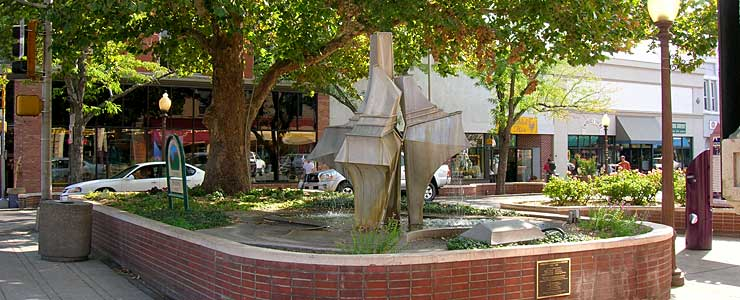 Street sculpture in downtown Grand Junction