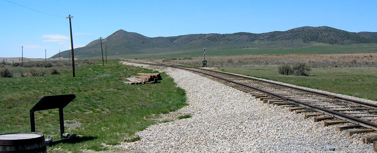Looking west from the Golden Spike