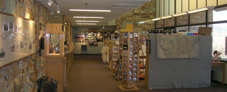 Inside the Golden Spike Visitor Center