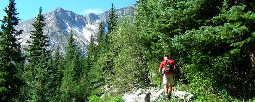 A view along the Lily lake Trail in the Sangre de Cristo Mountains of Colorado
