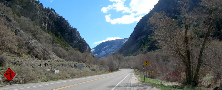 At the entrance to Logan Canyon