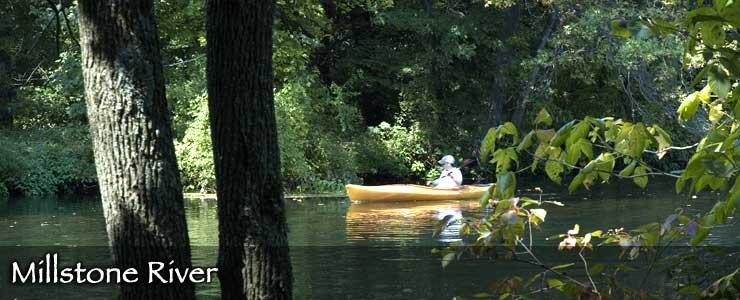 Canoeing on Millstone River