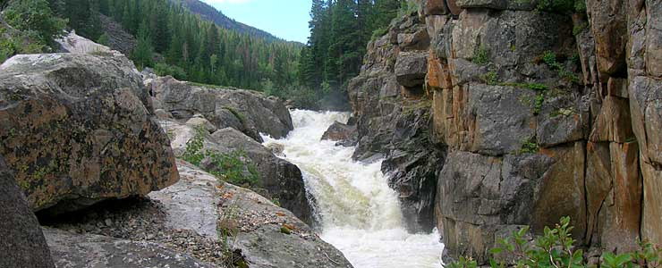 Poudre Falls on the Cache la Poudre River