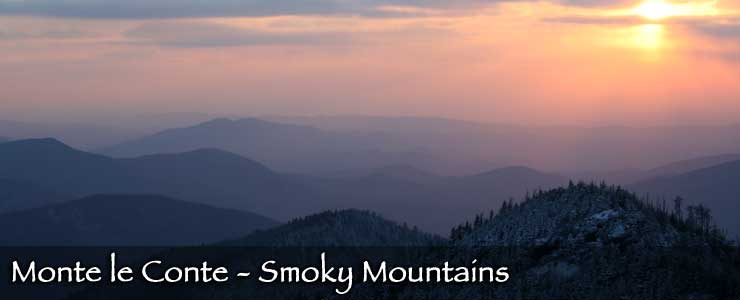 Sunrise at Smoky Mountains National Park