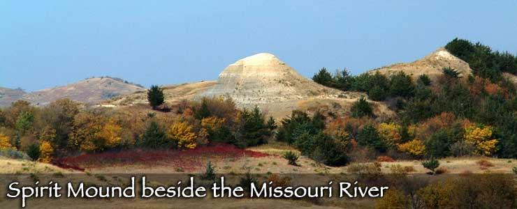 A spirit mound beside the Missouri River