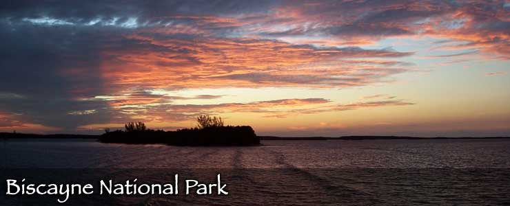 Sunset over Biscayne National Park