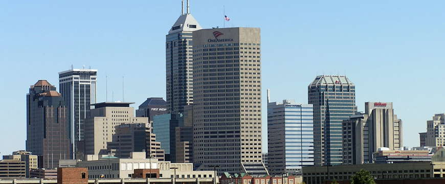 A view of the downtown Indianapolis skyline
