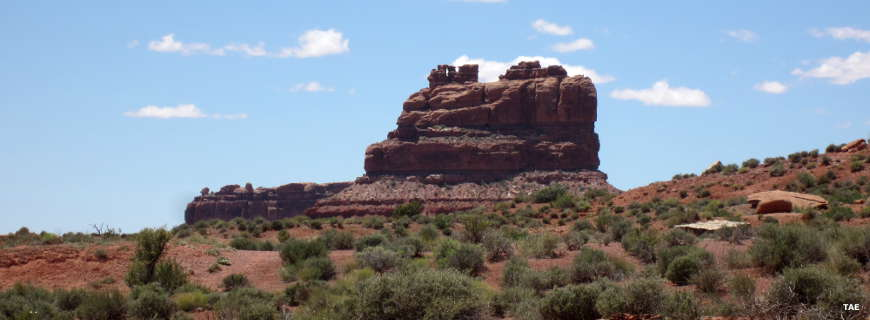 Typical rock formation in the Garden of the Gods at Bears Ears National Monument