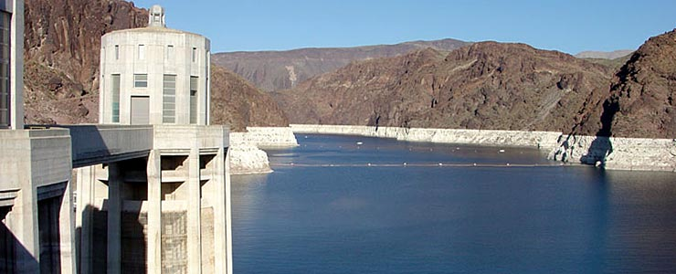 Looking upstream on Lake Mead from Hoover Dam