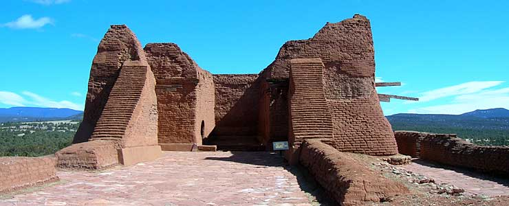 The ruins of Pecos Mission at Pecos National Historic Park