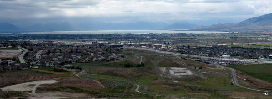 A view over Utah County from the top of Flight Park